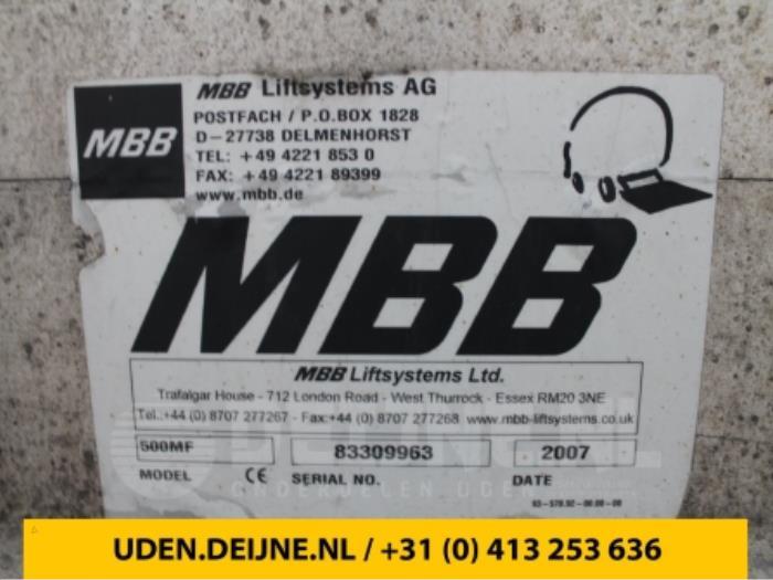 Laadklep sluiting - Mercedes Sprinter