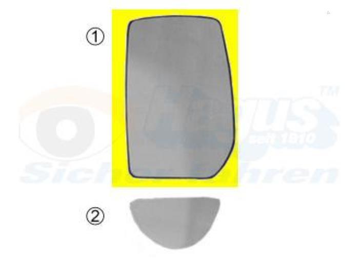 Spiegelglas rechts - Ford Transit