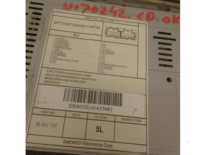 Radio Cd Player For Chevrolet Aveo Agc7112rv96647737 Japoto