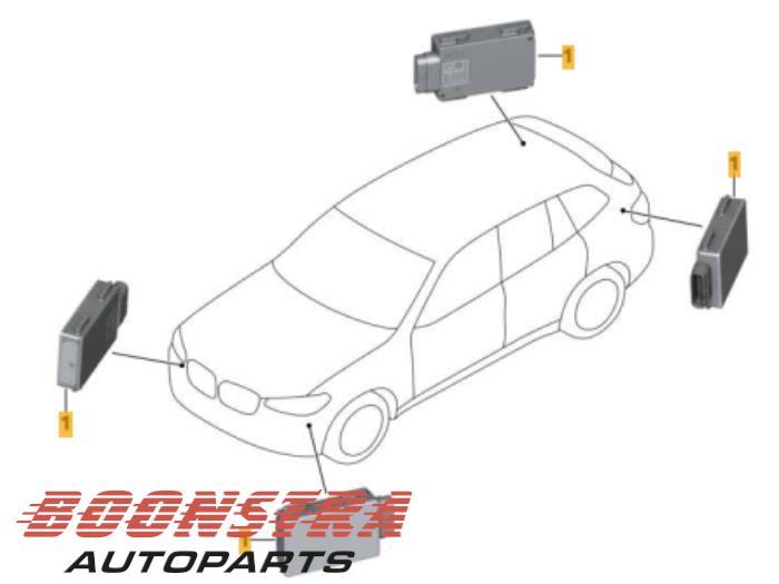 Dode hoek sensor van een BMW X3 (G01) xDrive 30d 3.0 TwinPower Turbo 24V Van 2017
