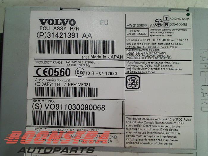 Gebruikte Volvo V60 Fwgw 20 D4 16v Navigatie Systeem 31421391