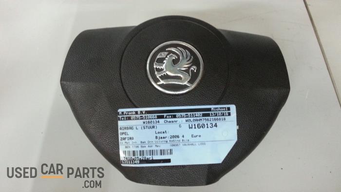 Left airbag (steering wheel) - Opel Zafira - O39253