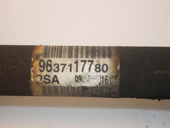 Aandrijfas links-voor Peugeot 307 3272LW, 9637117780 4