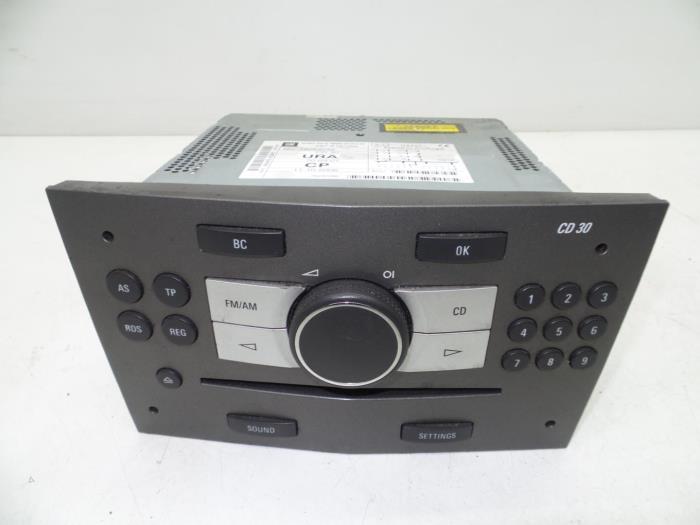 gebruikte opel zafira m75 1 9 cdti radio cd speler. Black Bedroom Furniture Sets. Home Design Ideas