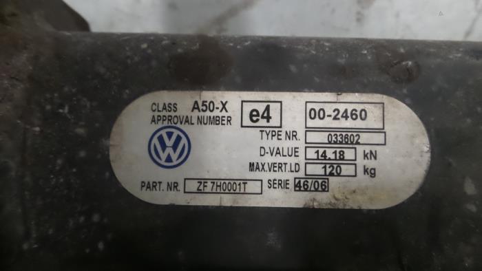 Trekhaak Volkswagen Transporter T5, Van, 2003 / 2015 1.9 TDi, Bestel, Diesel, 1.896cc, 62kW (84pk), FWD, BRR, 2006-01 / 2009-11, 7HA; 7HC; 7HH (ZF7H0001T)