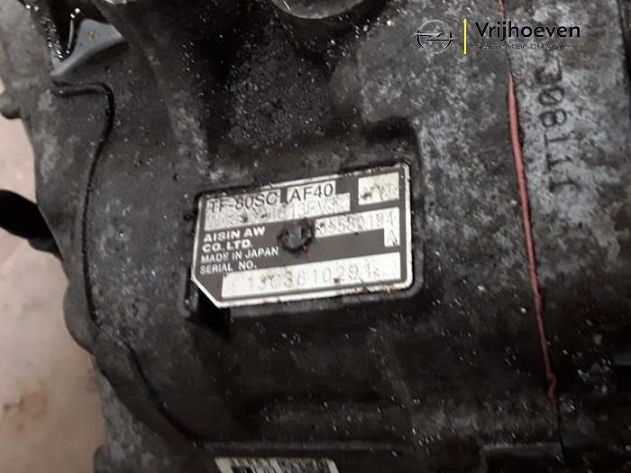 Automaatbak van een Opel Astra J (PC6/PD6/PE6/PF6) 2.0 CDTI 16V 165 Ecotec 2013