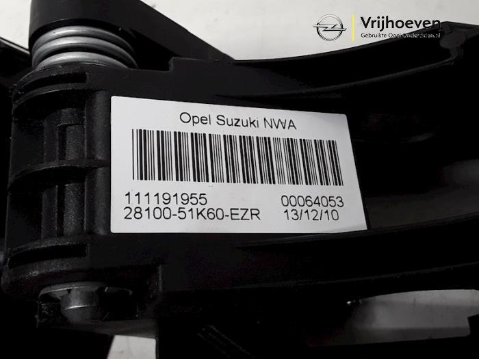 Versnellingspook van een Opel Agila (B) 1.2 16V 2011