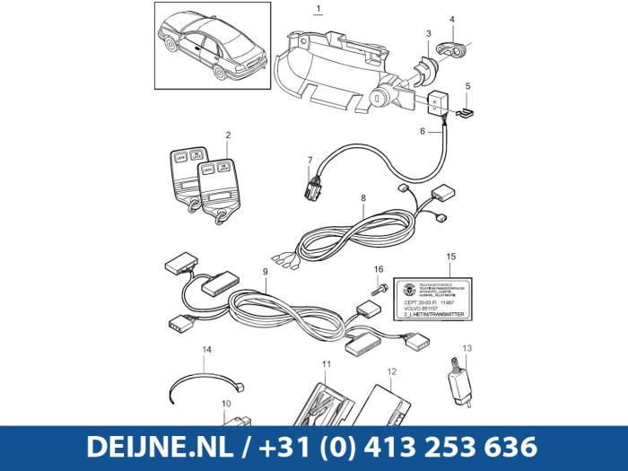 Centrale Deurvergrendelings Module - Volvo S40/V40