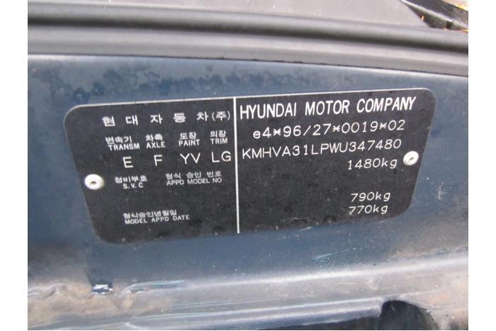 Hyundai Excel/Accent II/Pony 1.3i 12V