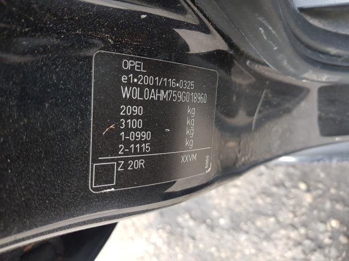 Opel Zafira Sloopvoertuig (2009, Zwart)